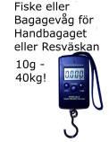 Bagagevåg Fiskevåg Digital 10 g - 40 kg