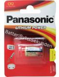 CR2 Litium 3V Fotobatteri Panasonic Högkapacitet Hög effekt