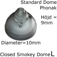 Closed Smokey Dome L 1-Pack - Phonak 054-1992