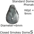Closed Smokey Dome S 1-Pack - Phonak 054-1990