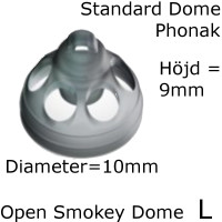 Open Smokey Dome L 1-Pack - Phonak 054-1989