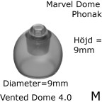 _Marvel Vented Dome 4.0 M 1-Pack - Phonak 054-0810