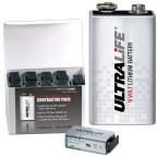 10-Pack 9V Litium 10-års Batteri brandvarnare Ultralife U9VL