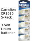 CR1616 5-Pack Camelion Litium 3 Volt