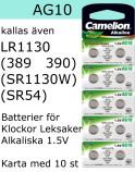 AG10 10-Pack LR1130 (389 SR1130W SR1130SW) Batteri 1,5V Camelion