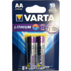 AA Litium 2-Pack VARTA  Batteri 1,5V  FR6 / 6106 / CR6 / L91