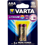 AAA Litium 2-Pack VARTA  Batteri 1,5V  FR03 / 6103 / CR03 / L92