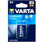 9V Block VARTA LONGLIFE Power Alkaline 6LR61 / 9V  4922
