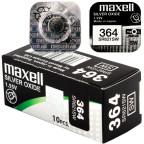 364 10-Pack SR621SW Klockbatteri - Maxell