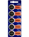 CR2025 5-Pack Murata Litium 3 Volt